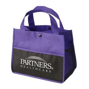Mini Snap Non-Woven Lunch Tote