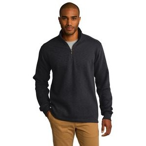 Port Authority® Men's Slub Fleece 1/4-Zip Pullover Sweater