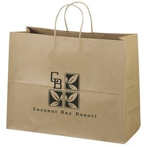 Eco Vogue Kraft-Brown Shopper Bag (Flexo Ink)