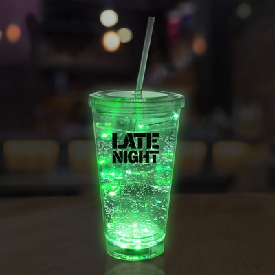 16 Oz. Green String Light LED Cup