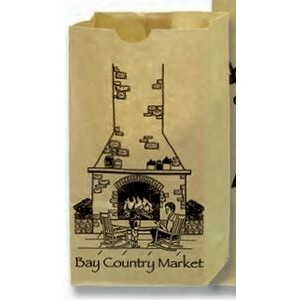 "Number 4 Natural Kraft Grocery Bags (5""x3 1/8""x9 5/8"")"