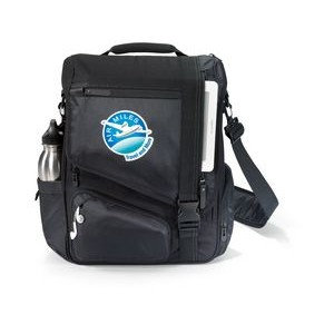 Life in Motion® Momentum Computer Messenger Bag - Black