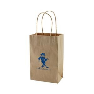 "Natural Kraft Shopping Bag (5.5""x3.25""x8.375"")"