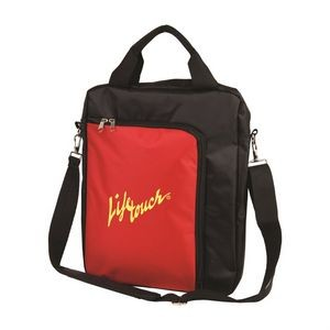 The Vertical Laptop Shoulder Bag - Red
